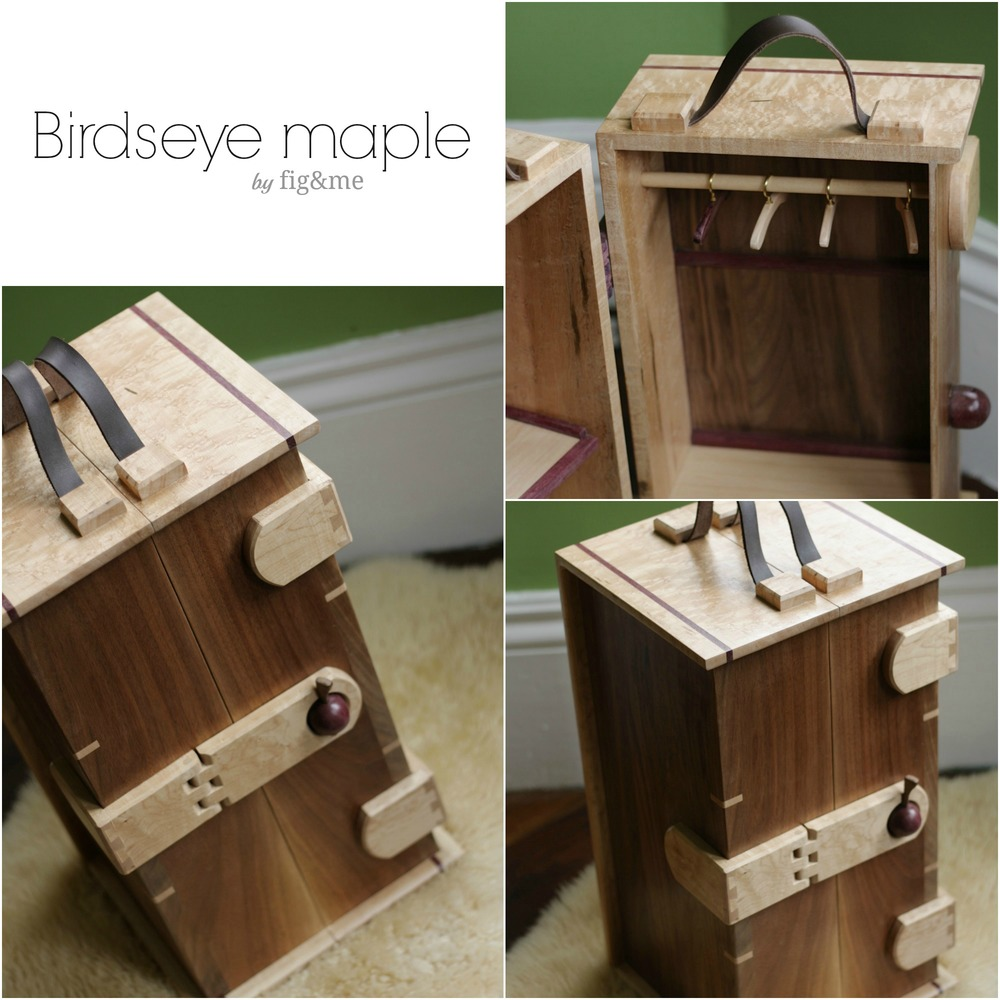 birds-eye maple steam trunk, by fig&me