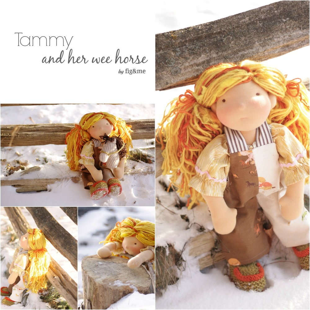 Tammy and her wee horse, by Fig&me.