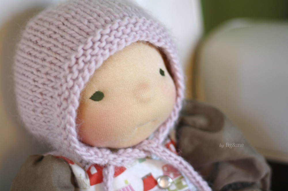 Knitting Needles Case Pattern : Simply Baby Bonnet, a free knitting pattern.   fig & me