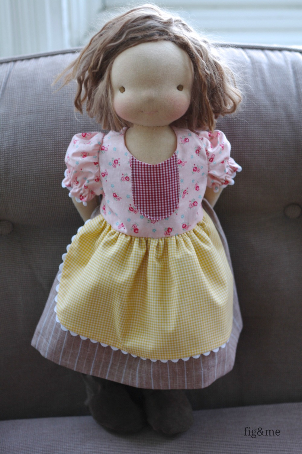 Lilybug in her patchy dress, by Fig &  me