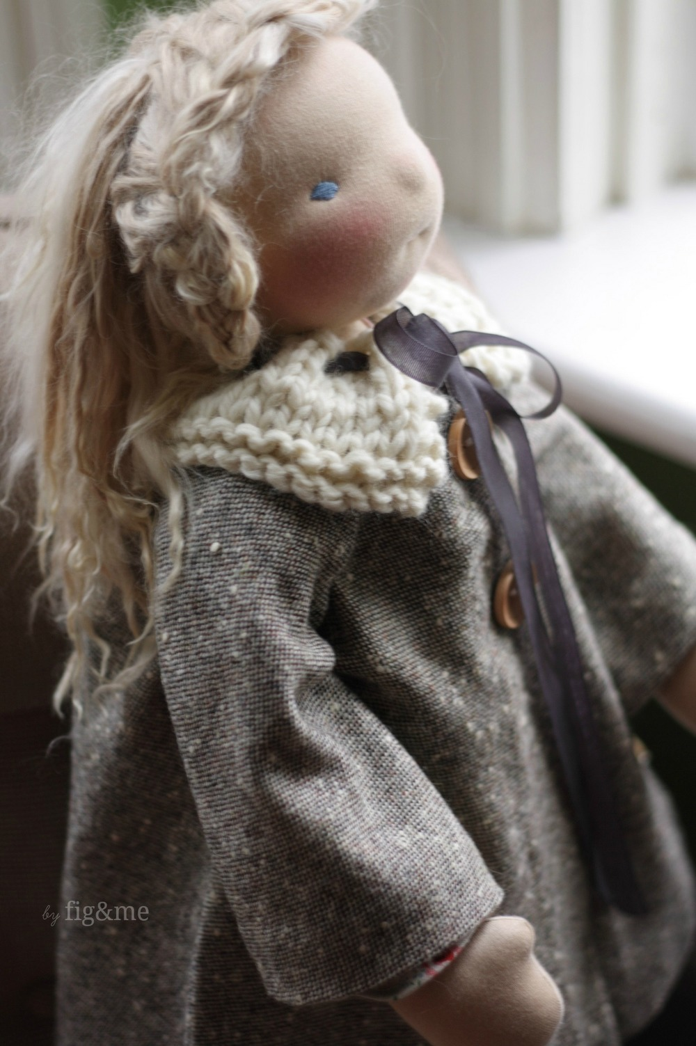 Bias cut wool doll coat, by Fig&me