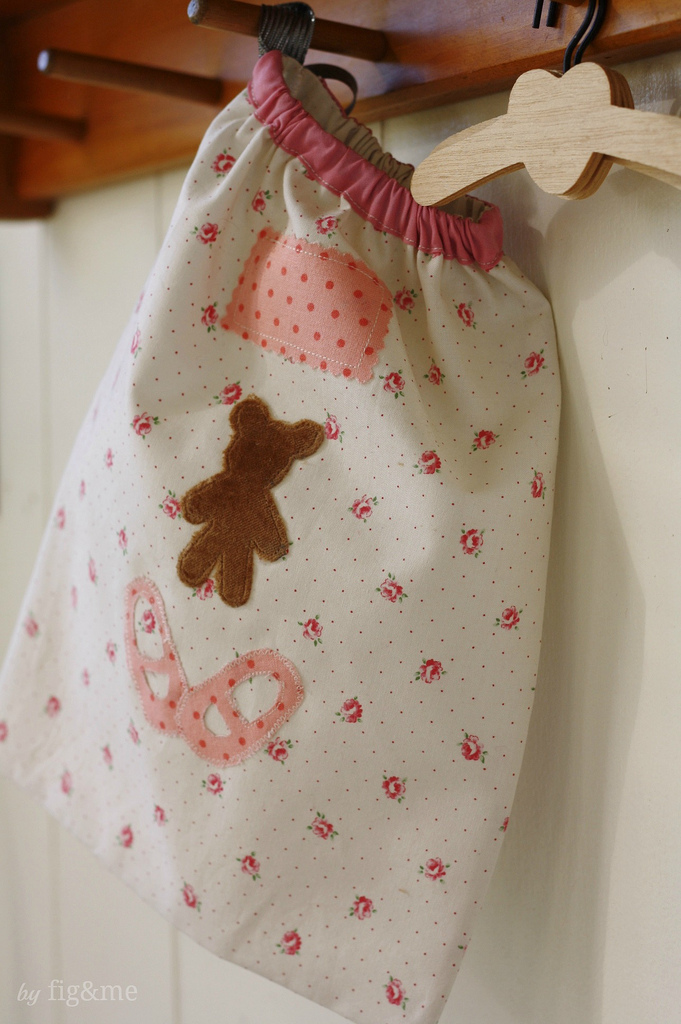 Little bag for doll shoes, by Fig&me