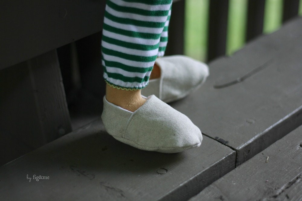 My linen shoes, by Fig and Me.