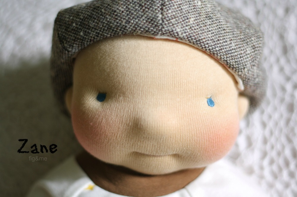 Little Zane, a custom doll by Fig and Me.