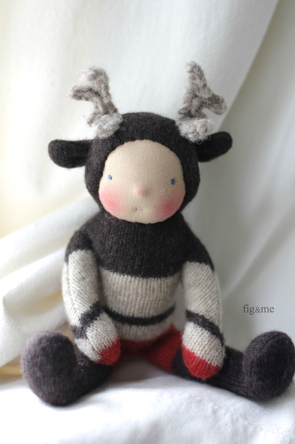 Wee Baby reindeer, by Fig and Me.