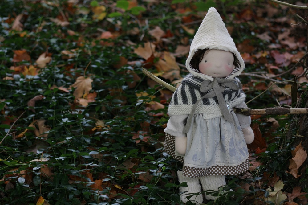 "Bláithín, a 17"" tall Figlette doll by Fig and Me."