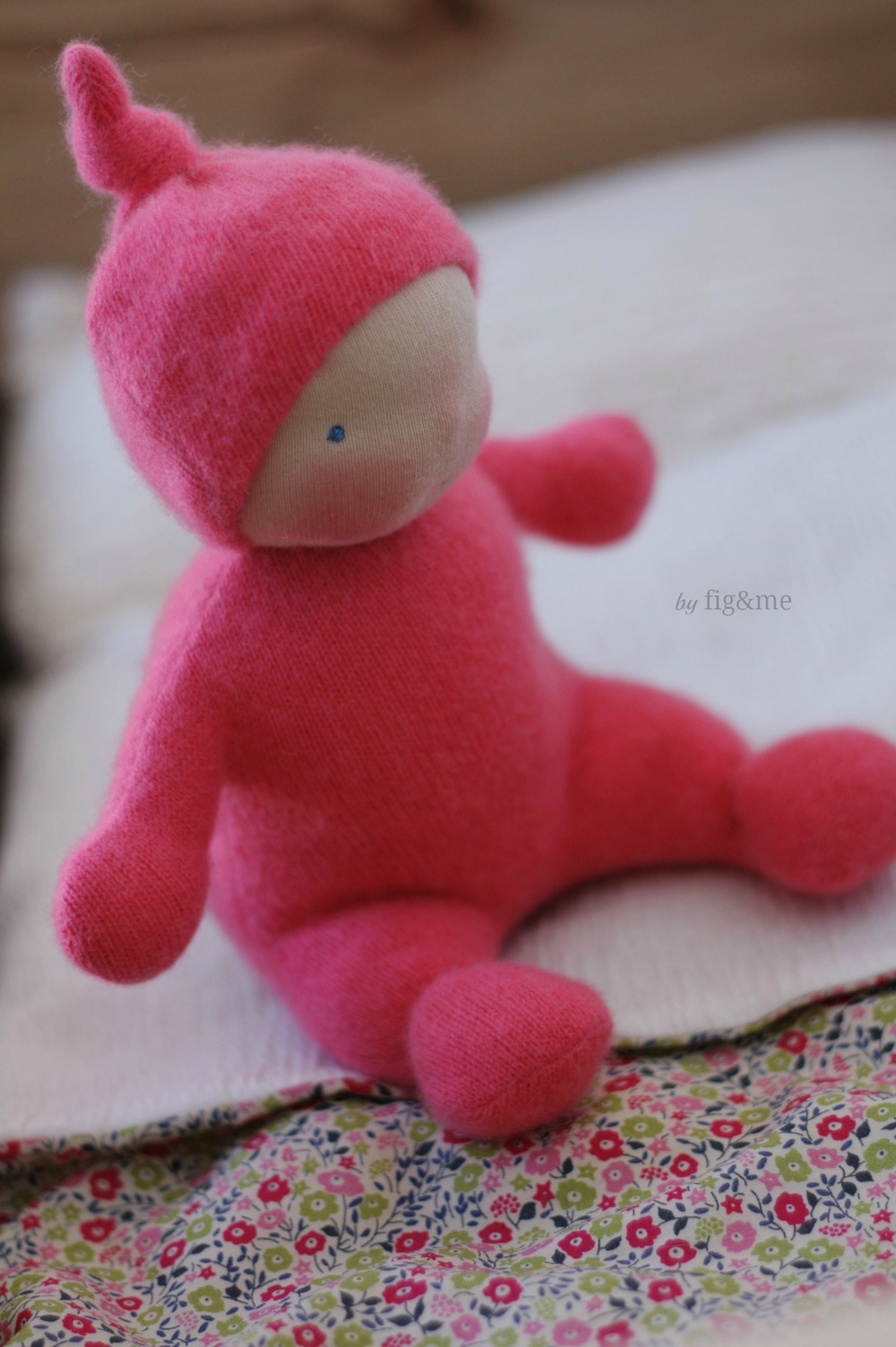Rumbly Tumbly, a weighted cashmere baby doll by Fig and Me.