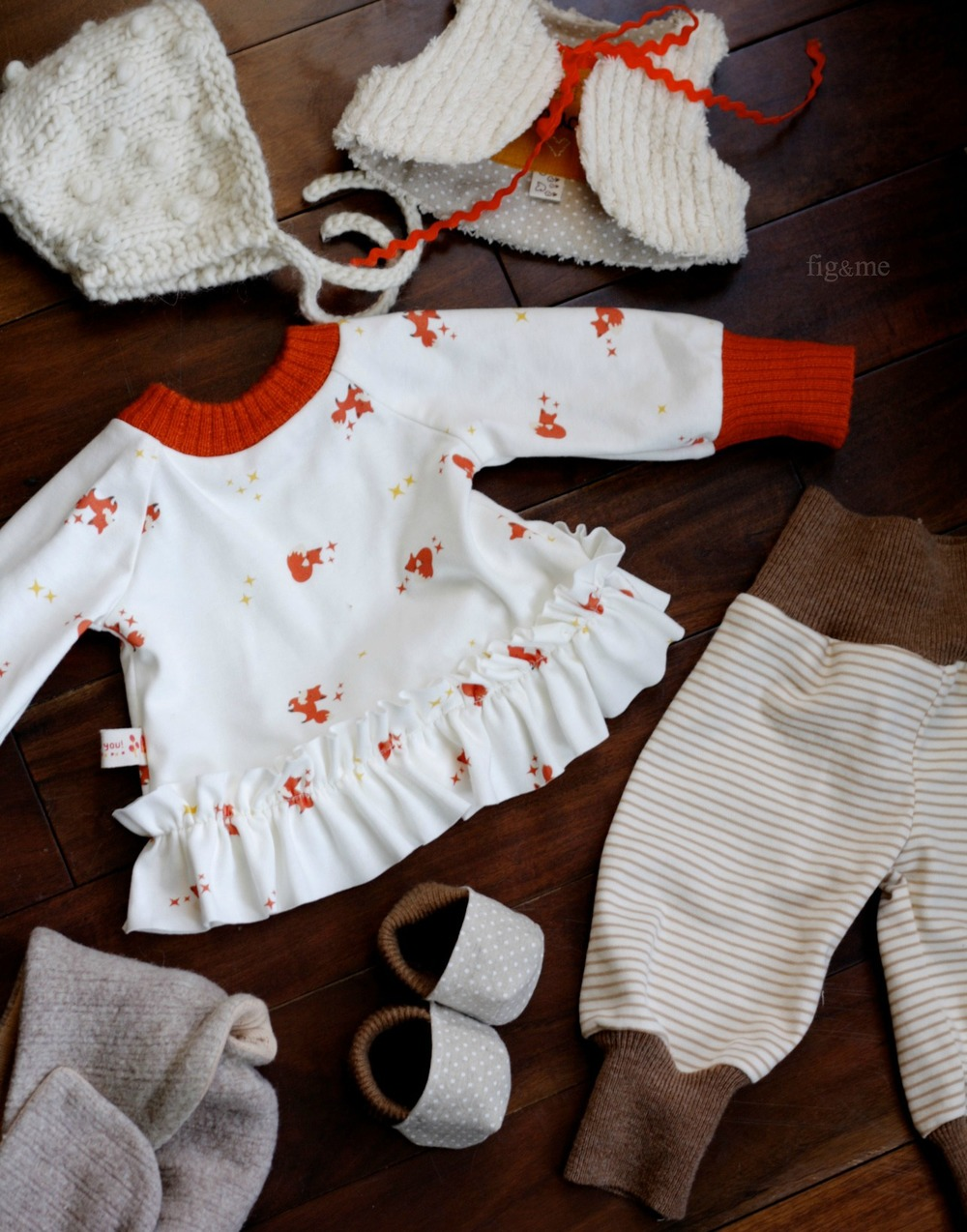 Baby Anjo's clothes, by Fig and Me.