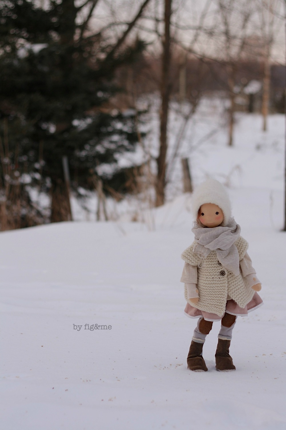 My little Poet, enjoying the snow. By Fig and Me.