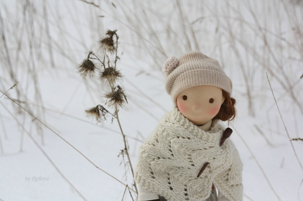 Little Winny in the snow, by Fig and Me.