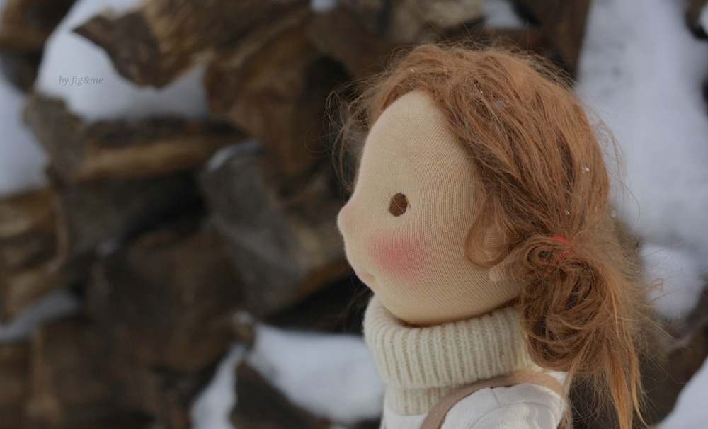 The snow is melting on your hair, by Fig and Me.