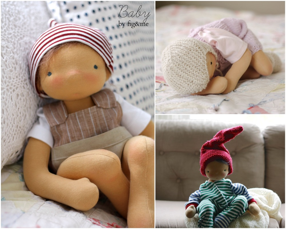 Baby dolls by Fig and Me.