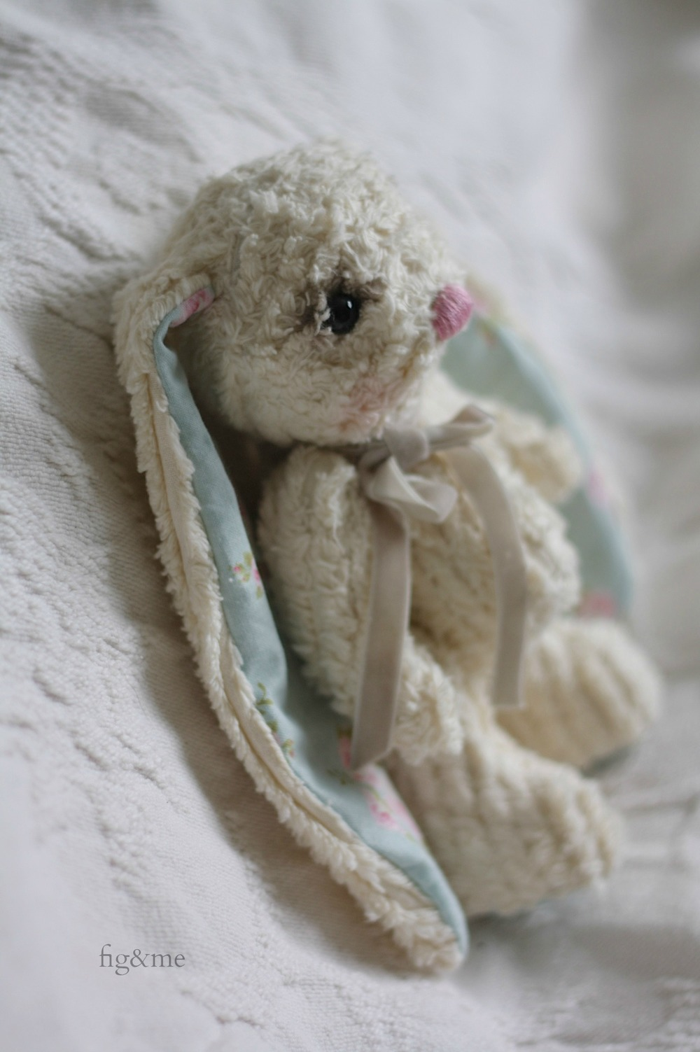 Ximena, the chenille bunny by Fig and Me