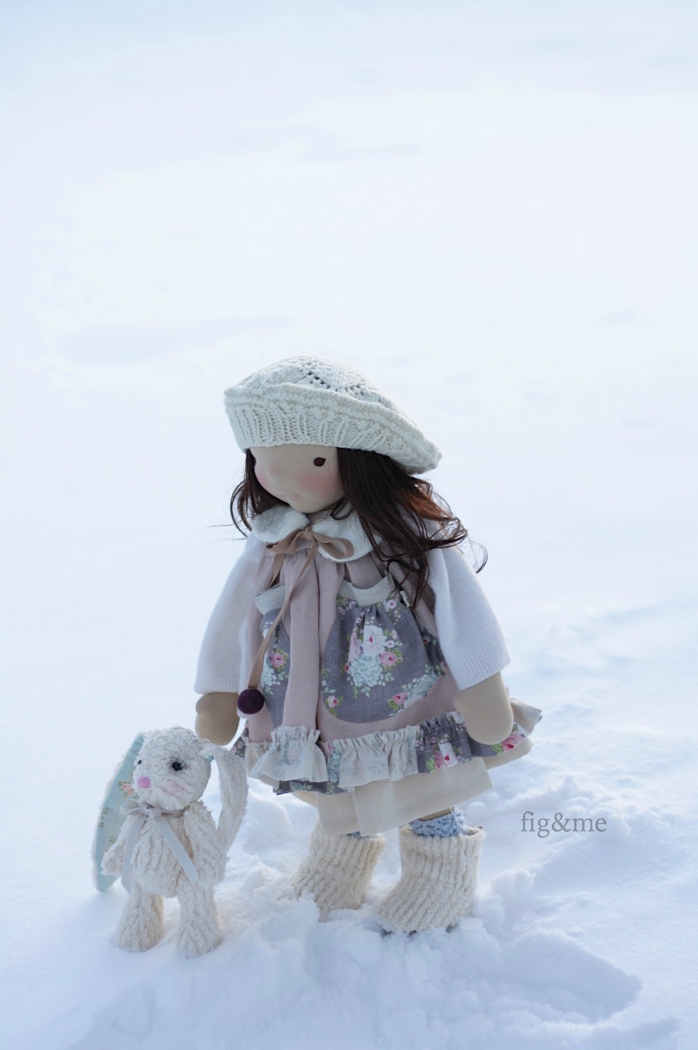 In the snow field, by fig and me