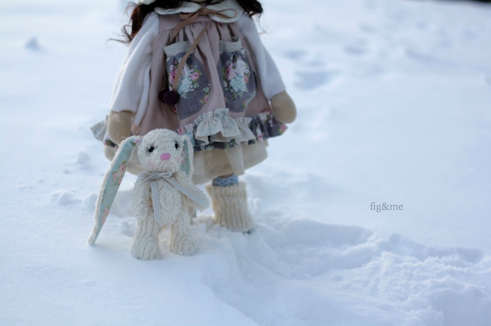 Ximena in the snow, by fig and me