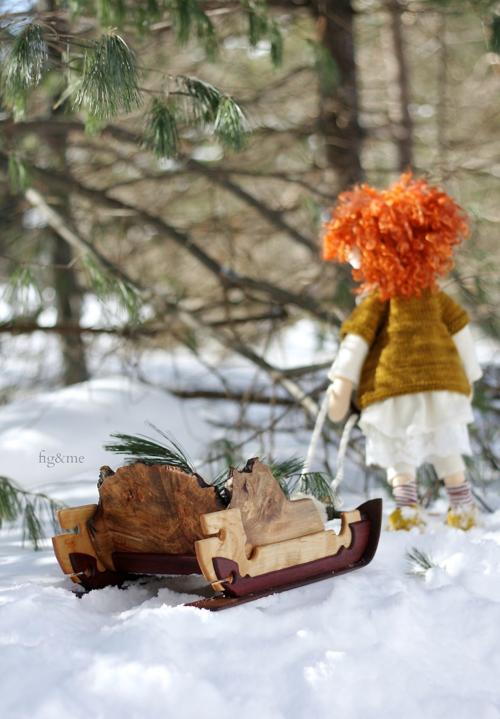Ewa and her sleigh, by fig and me