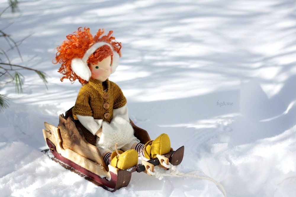 Ewa and her sleigh by fig and me