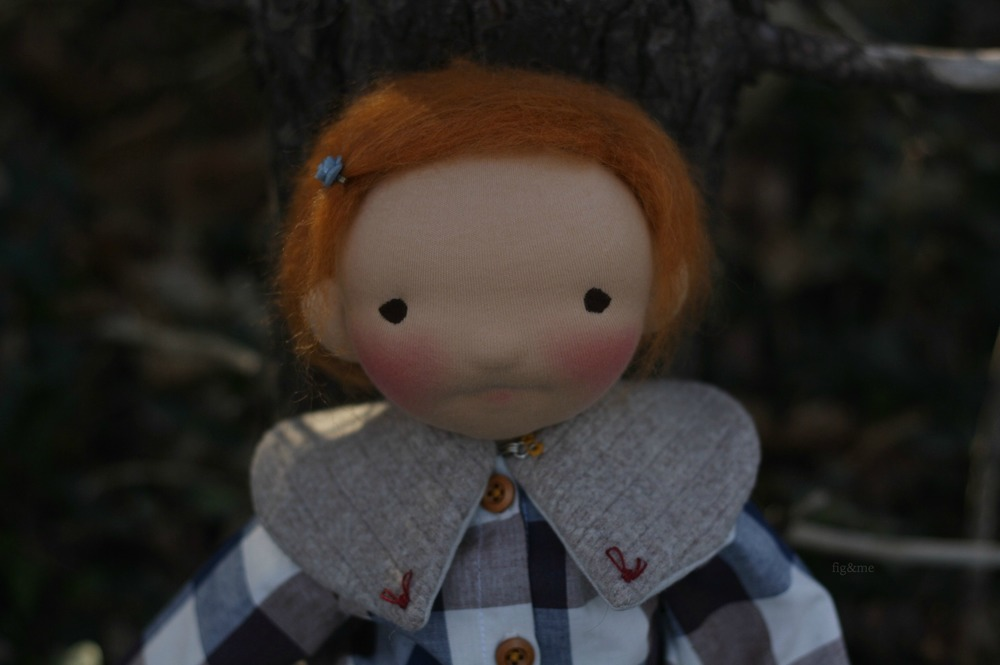 """Saoirse, a 20"""" figlette doll by Fig and Me"""
