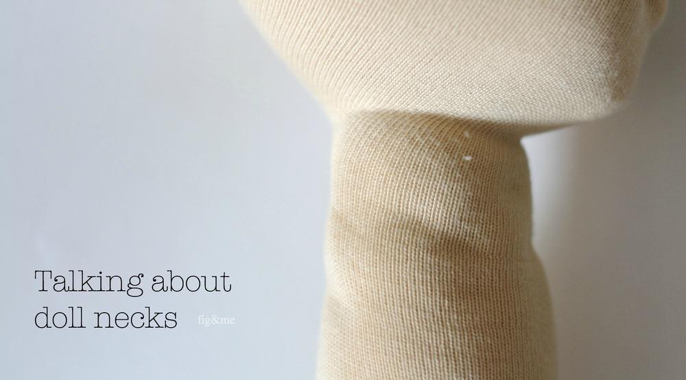 Dollmaking tips, achieving study necks (via Fig&me)