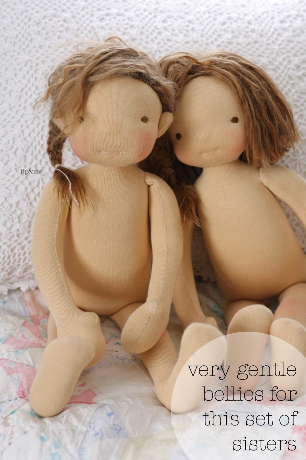 Creating dolls with slight differences to make them more unique, by Fig&me.