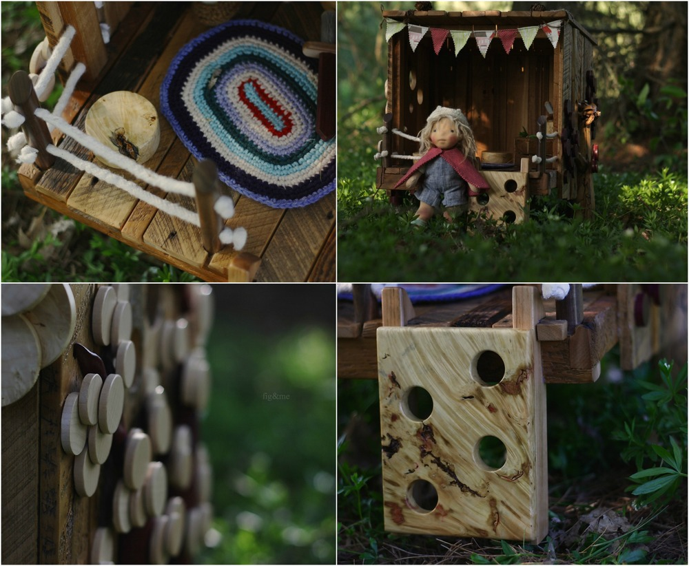 Details of the tree house, by Fig and me.