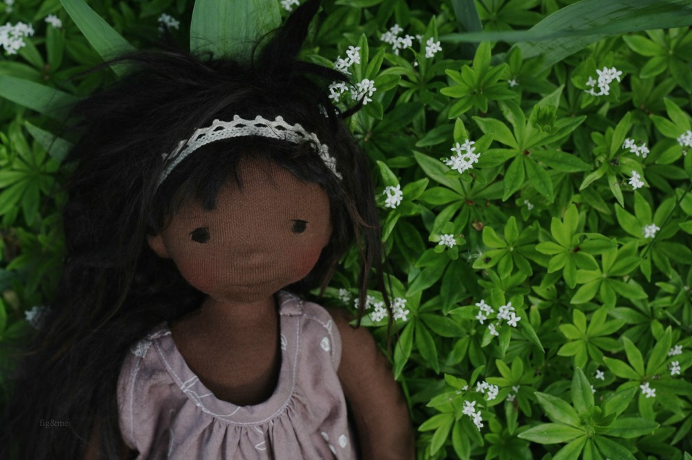 Fernanda, a natural handmade doll by Fig&me.