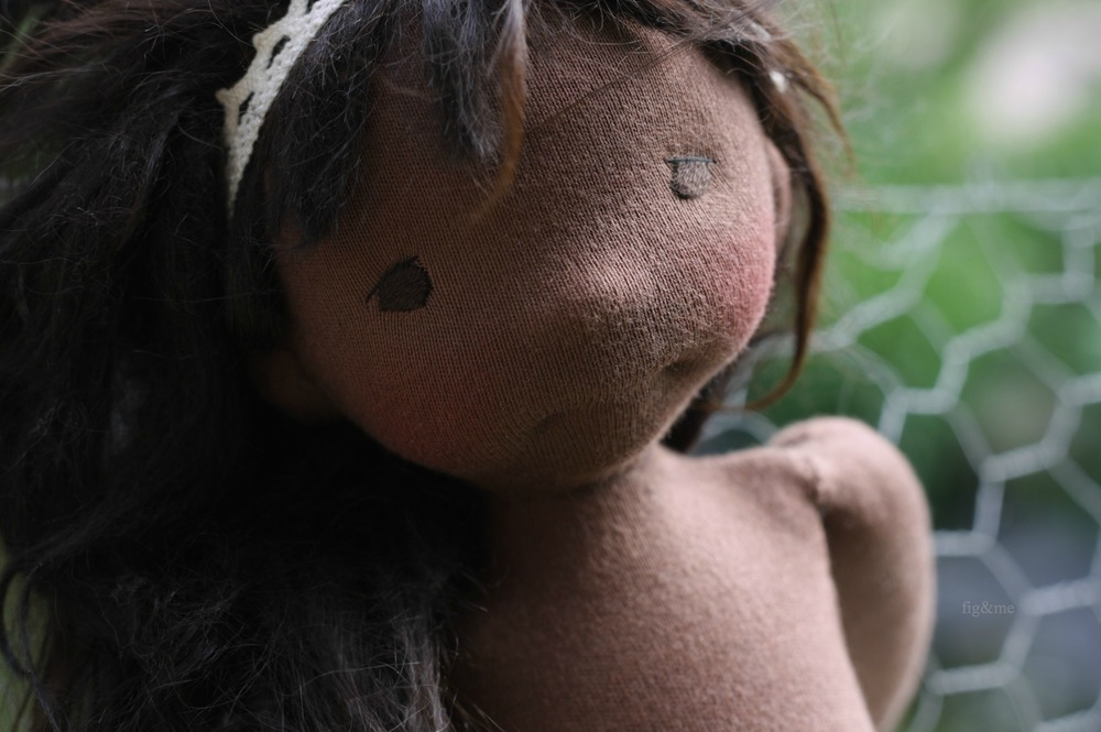 Sweet Fernanda, a natural handmade doll by Fig and me.