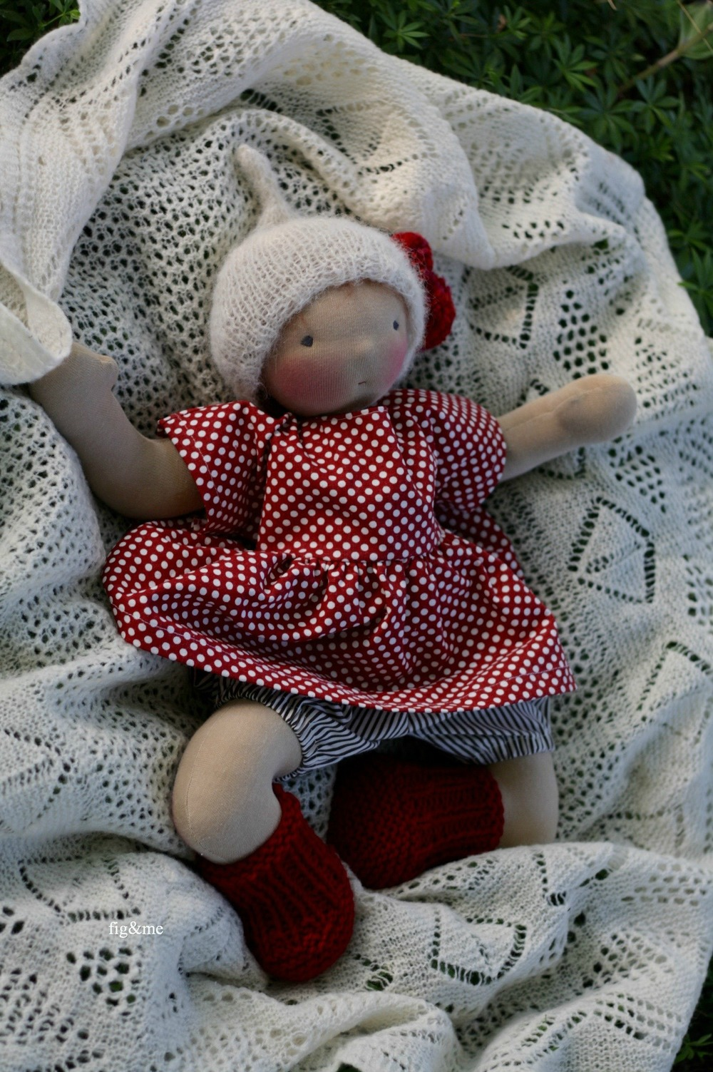Rowanberry, a natural baby doll by Fig&me.