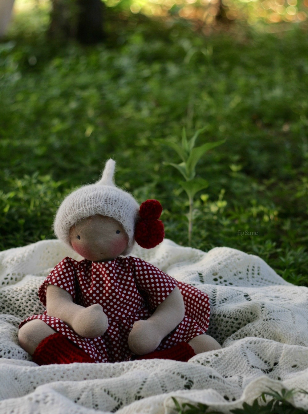 Rowanberry, a natural baby-style doll by Figandme.