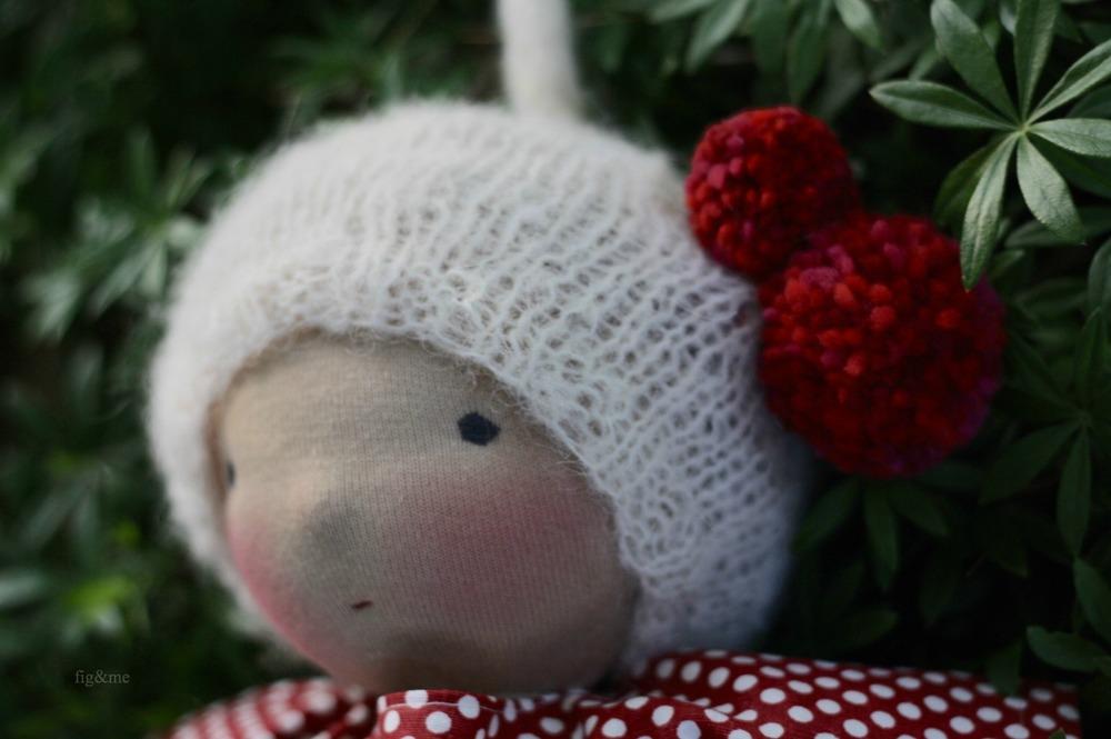 Rowanberry, handknit hat in alpaca silk by Figandme.