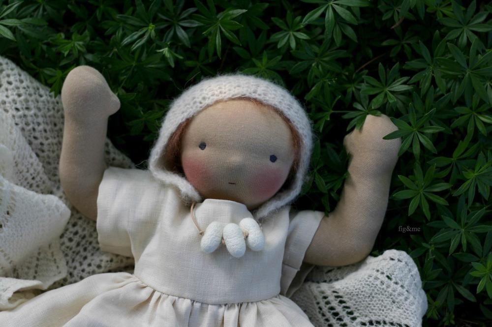 Elderflower, natural baby doll by Figandme.