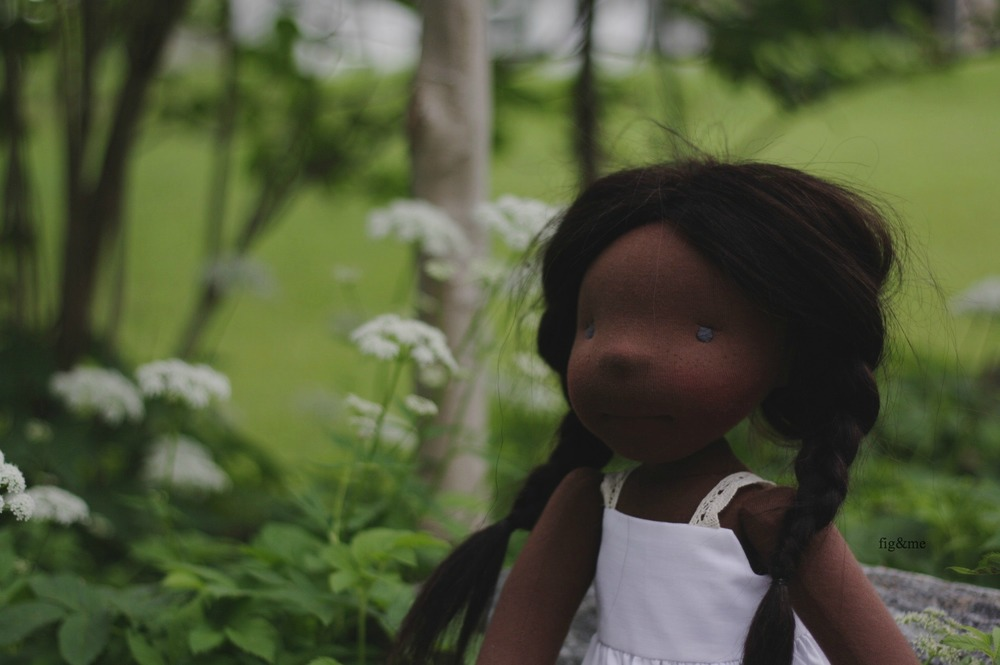 Hettie Gray, a natural doll by Fig and me.
