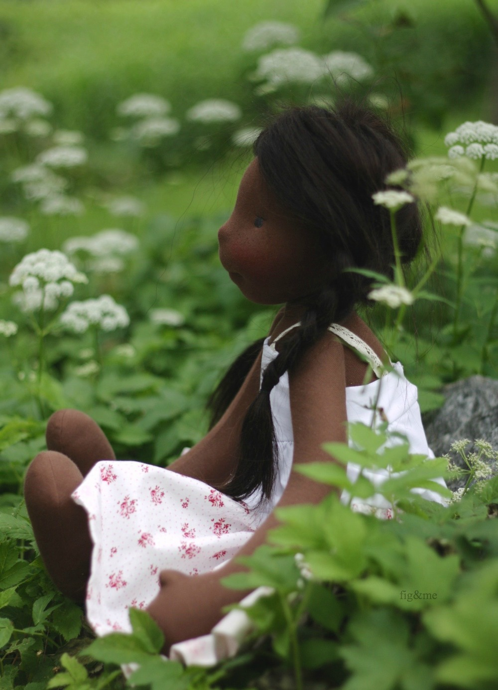 "Hettie Gray, a lovely 23"" tall natural doll by Fig and me."