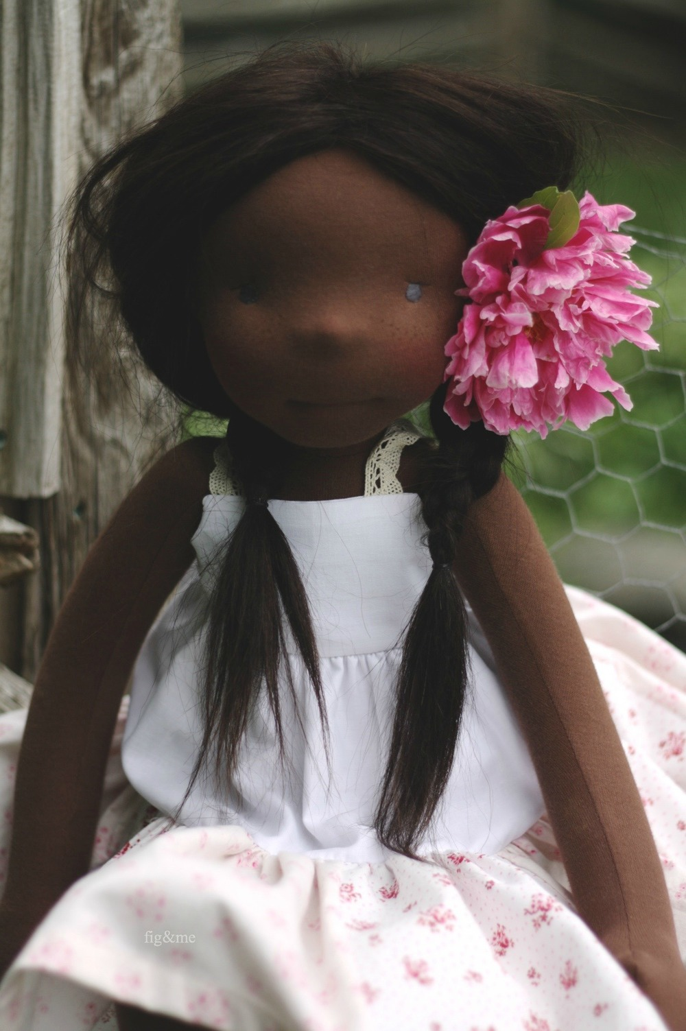 Hettie Gray, a natural doll by Fig & me.