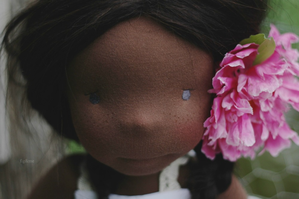 Miss Hettie Gray, natural doll by Fig and me.