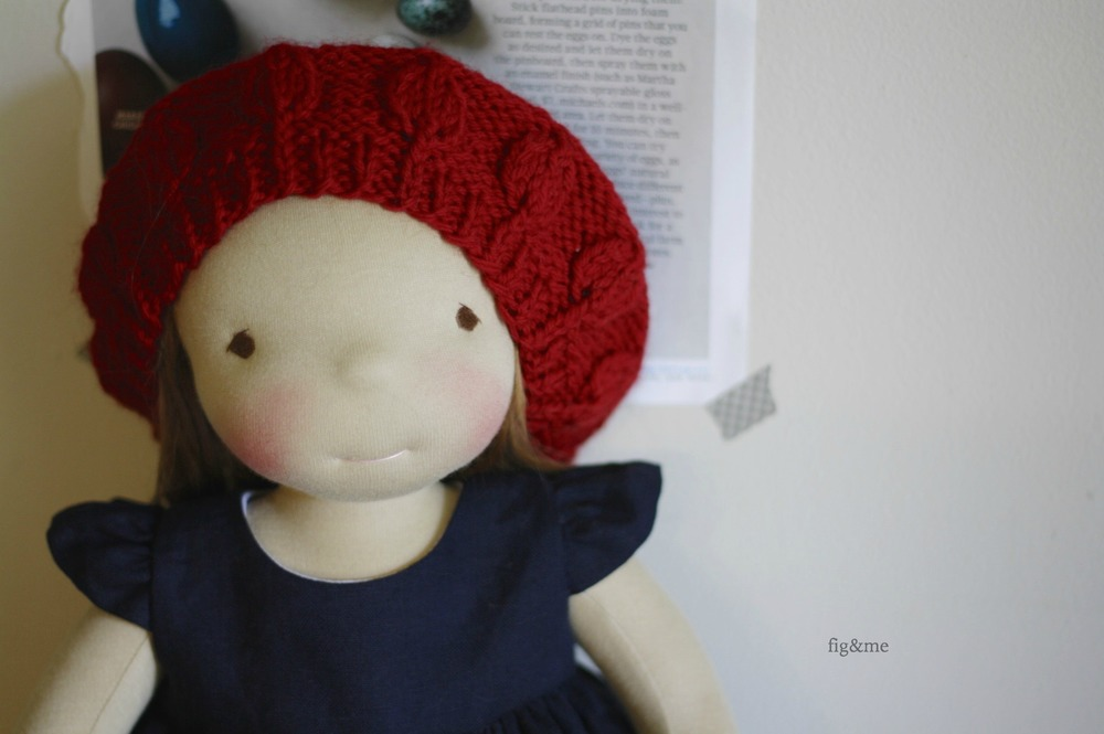Gracie, a natural waldorf inspired doll by Fig and Me.