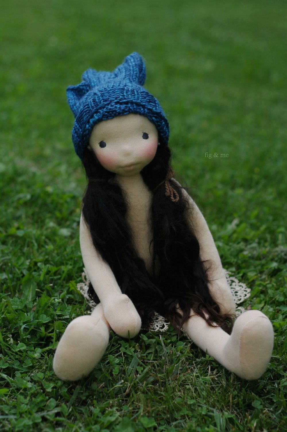 Seraphita, a handmade natural cloth doll by Fig and me.