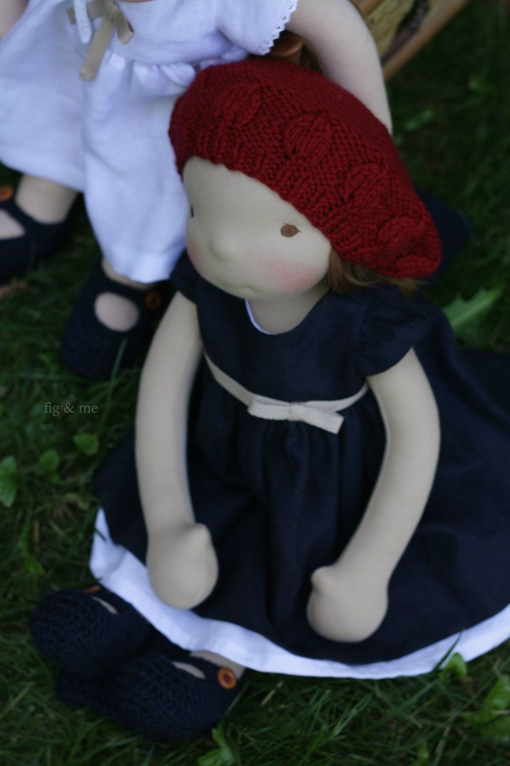 Miss Gracie, a natural custom cloth doll by Fig and me