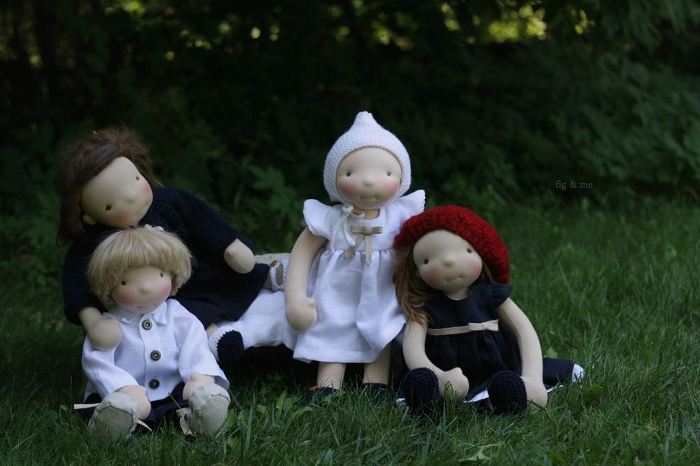 Natural handmade dolls by Fig and me