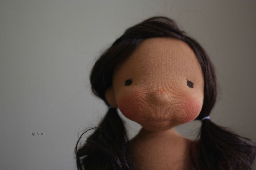 Adelita, in her soft dark skin and chocolate brown hair - by Fig and me.