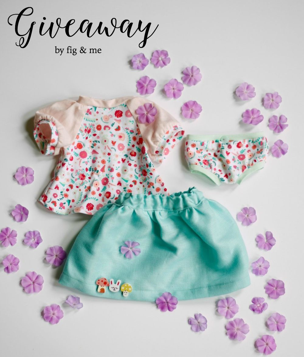 Doll clothing giveaway by Fig and Me.