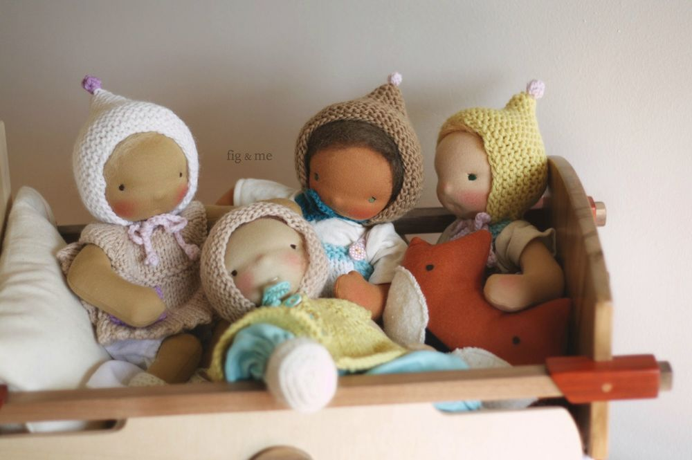 Cloth babies and wooden cradles, oh my! by Fig and me.