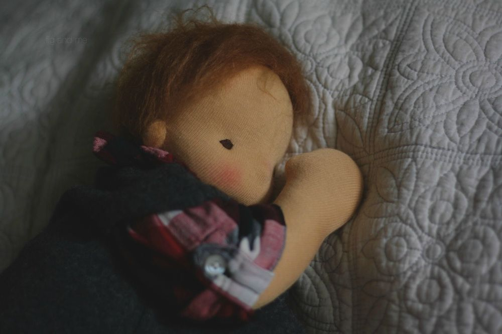 Sweet Little Baby Emma Jean, taking a little dolly nap. By Fig and me.