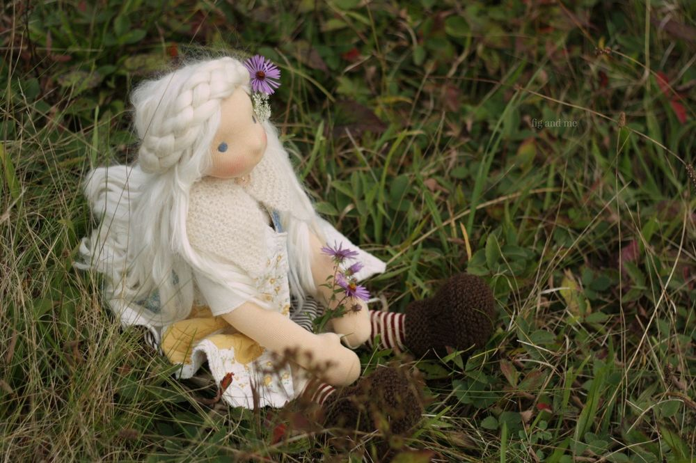 Feodora on the Fall meadow, by Fig and me.