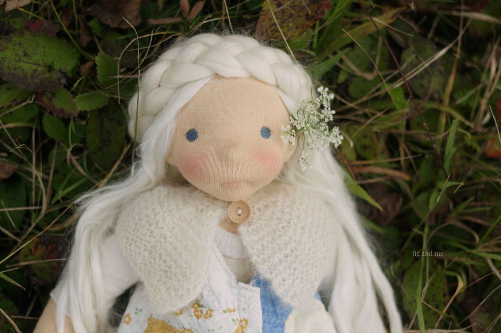 Sweet Feodora, a natural fiber art doll by Fig and me.