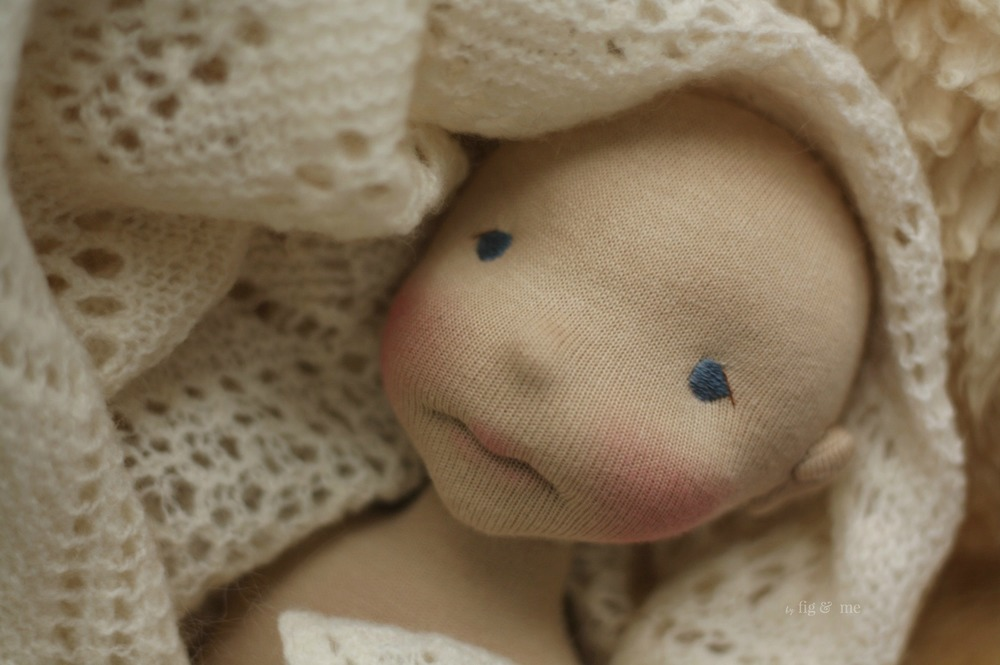 A beautiful soul, natural fiber art doll by Fig and me.