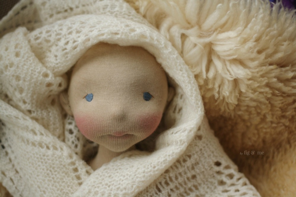 Sakasu, a natural fiber art doll in the making. By Fig and Me.
