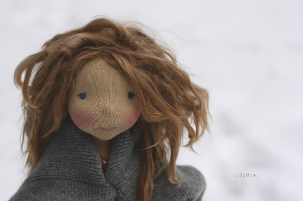 Sakasu, a natural fiber art doll by Fig and Me.