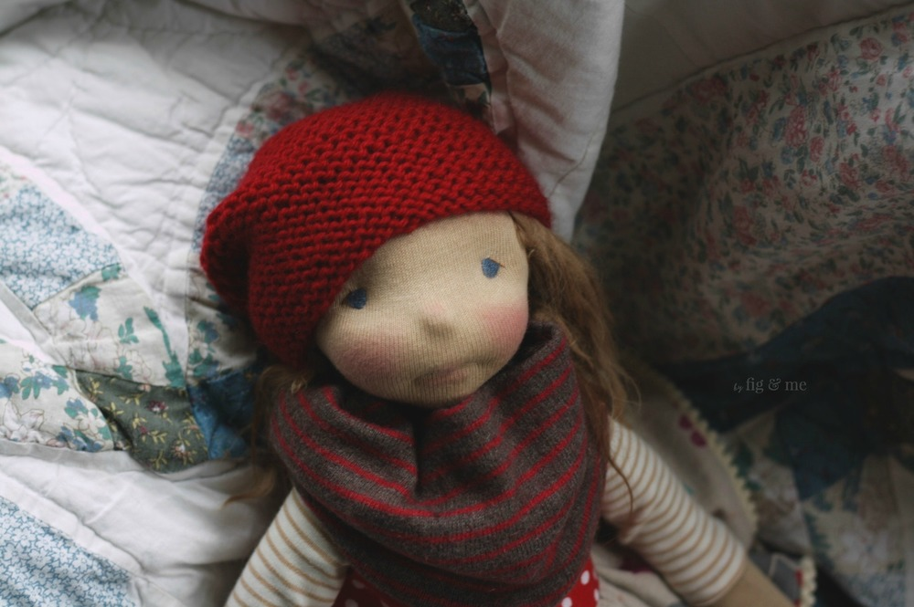 Sakasu, a natural fiber art doll by Fig and Me.