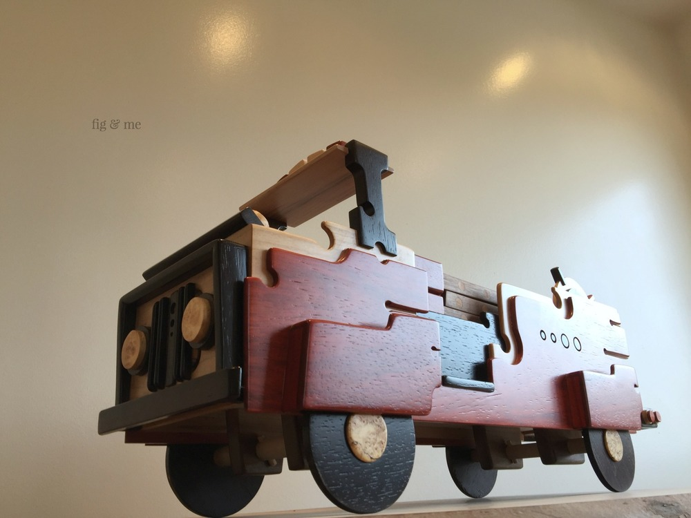 Wood fire truck, by Fig and Me.